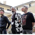 Dante Cigarini in Piazza Broletto