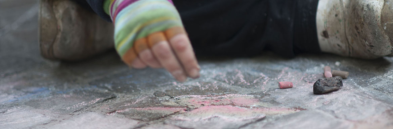 Artista di strada Famille de la rue